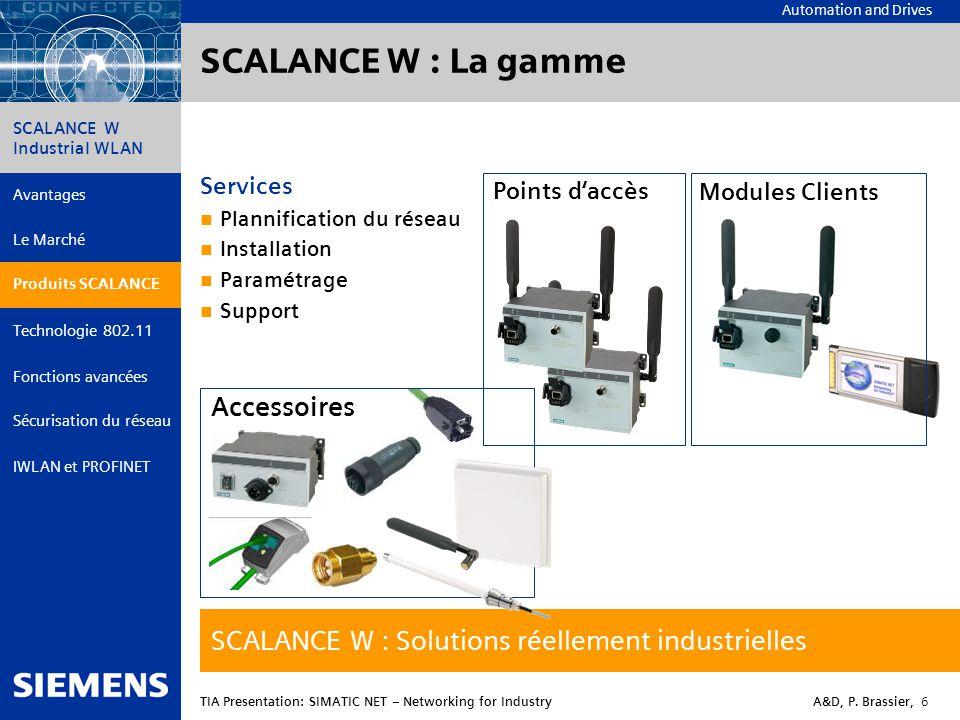 SCALANCE W : La gamme SCALANCE W : Solutions réellement industrielles