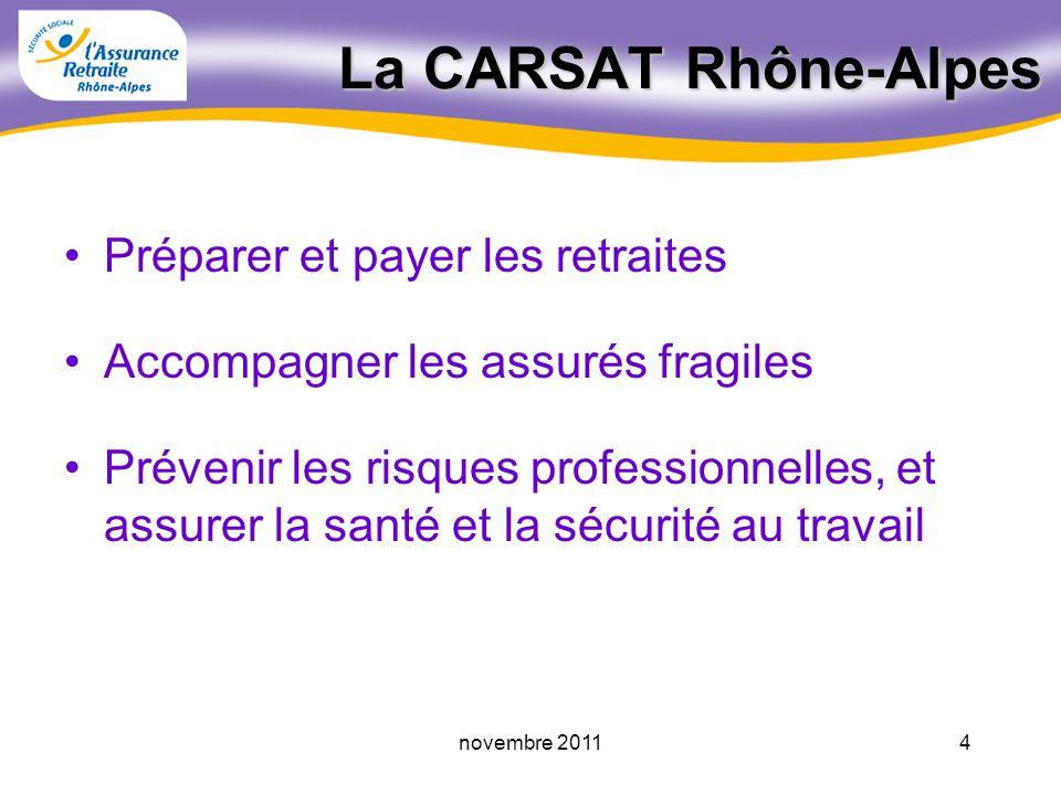 La CARSAT Rhône-Alpes Préparer et payer les retraites