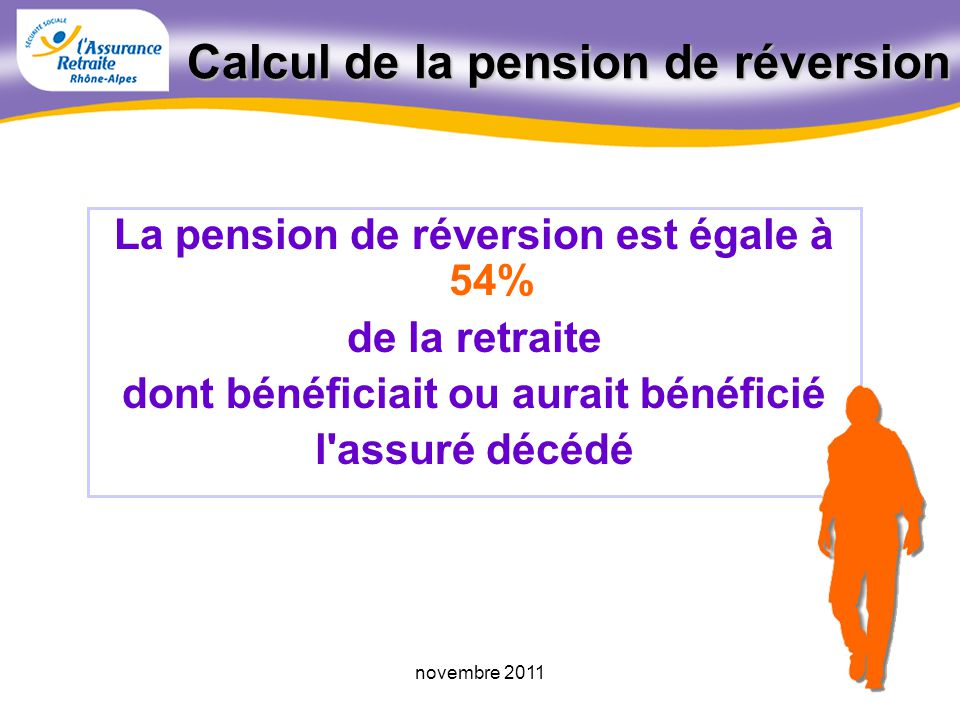 Calcul de la pension de réversion