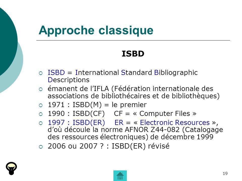 Approche classique ISBD 2006 ou 2007 : ISBD(ER) révisé