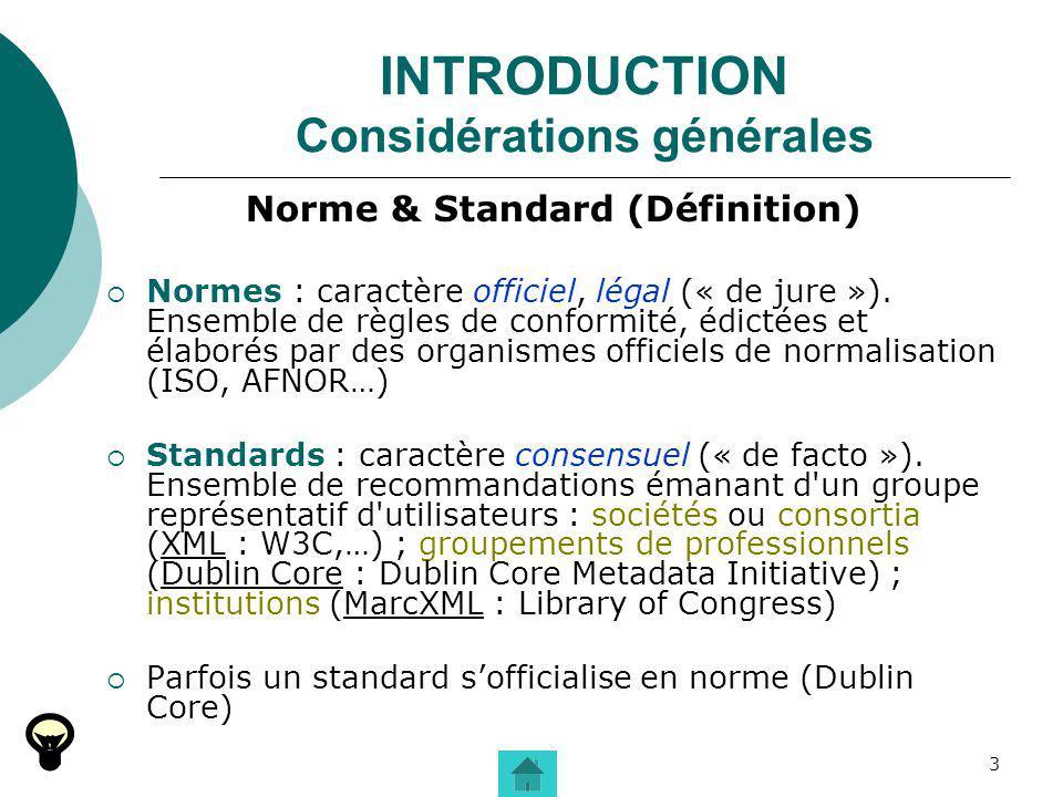 INTRODUCTION Considérations générales
