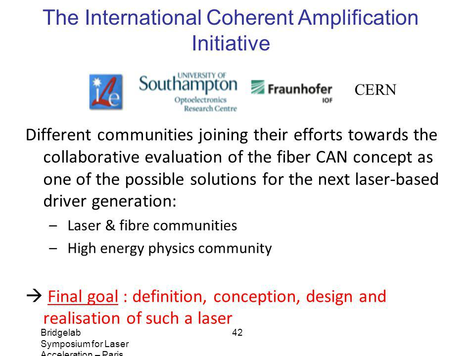 The International Coherent Amplification Initiative