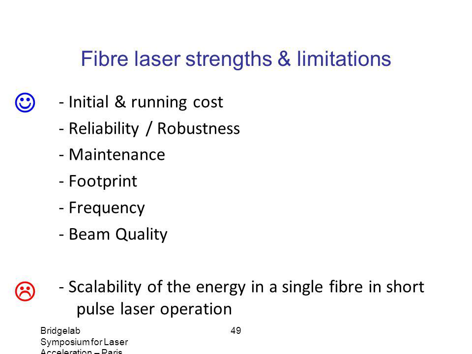 Fibre laser strengths & limitations