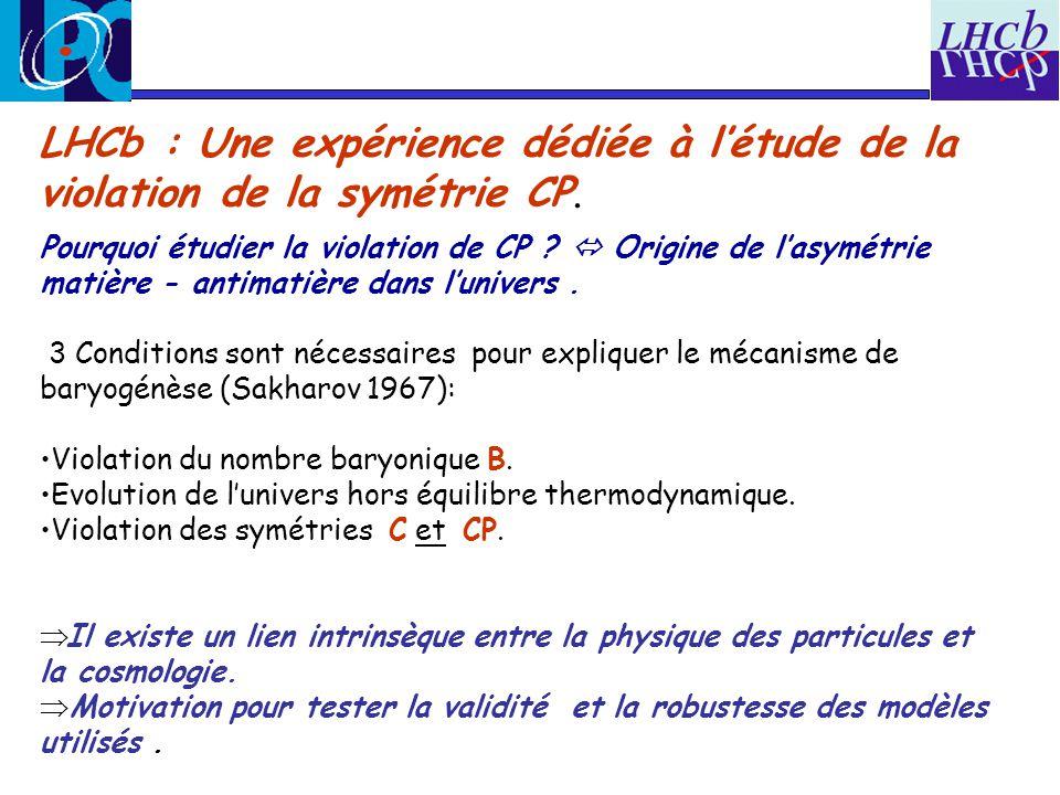 LHCb : Une expérience dédiée à l'étude de la violation de la symétrie CP.