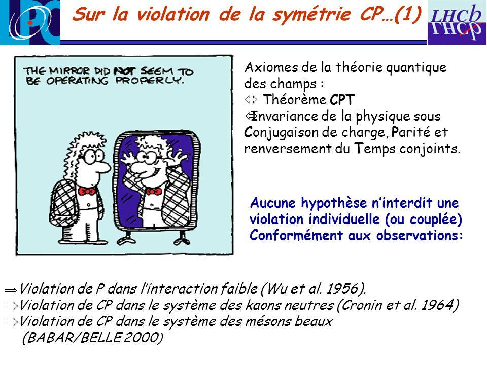 Sur la violation de la symétrie CP…(1)