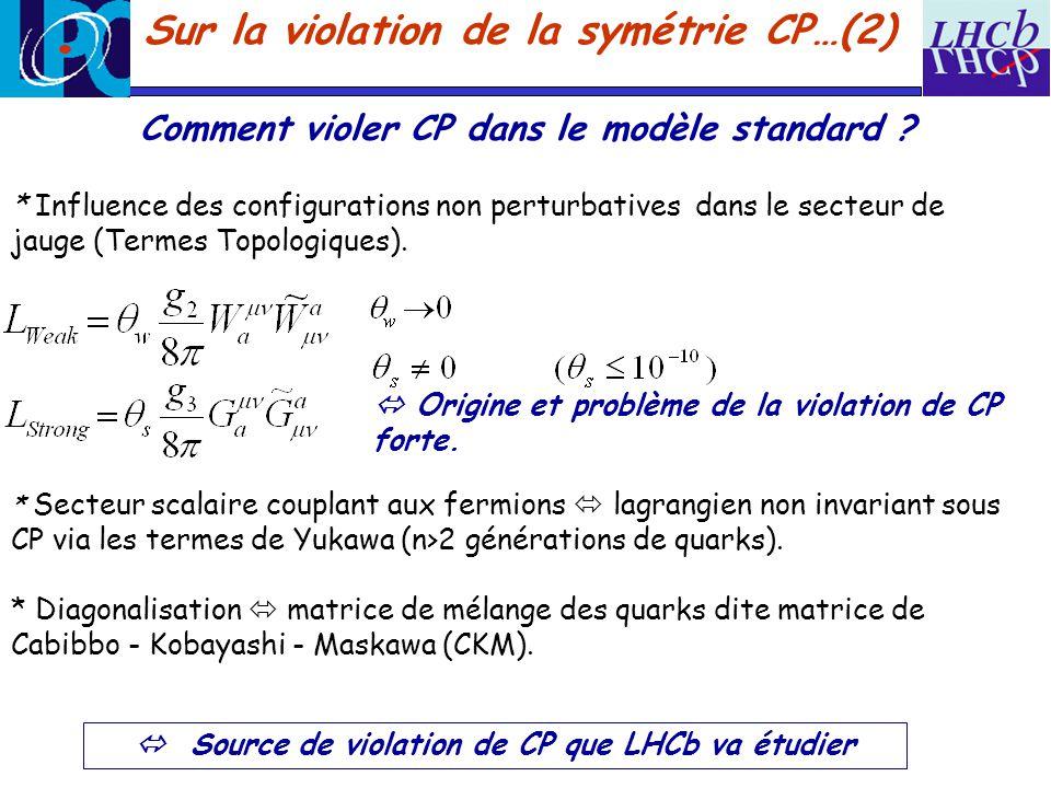 Sur la violation de la symétrie CP…(2)