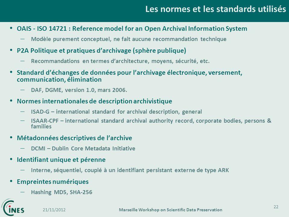 Les normes et les standards utilisés
