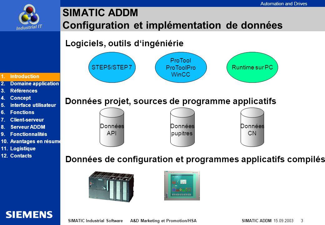 SIMATIC ADDM Configuration et implémentation de données