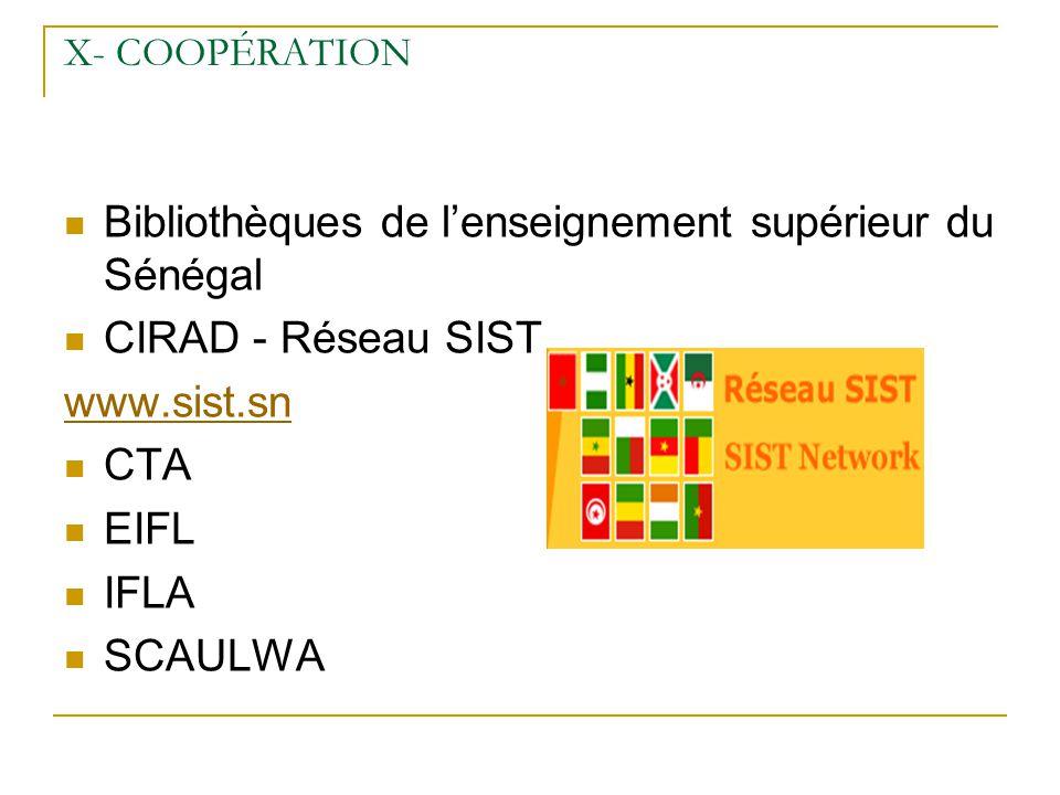 Bibliothèques de l'enseignement supérieur du Sénégal