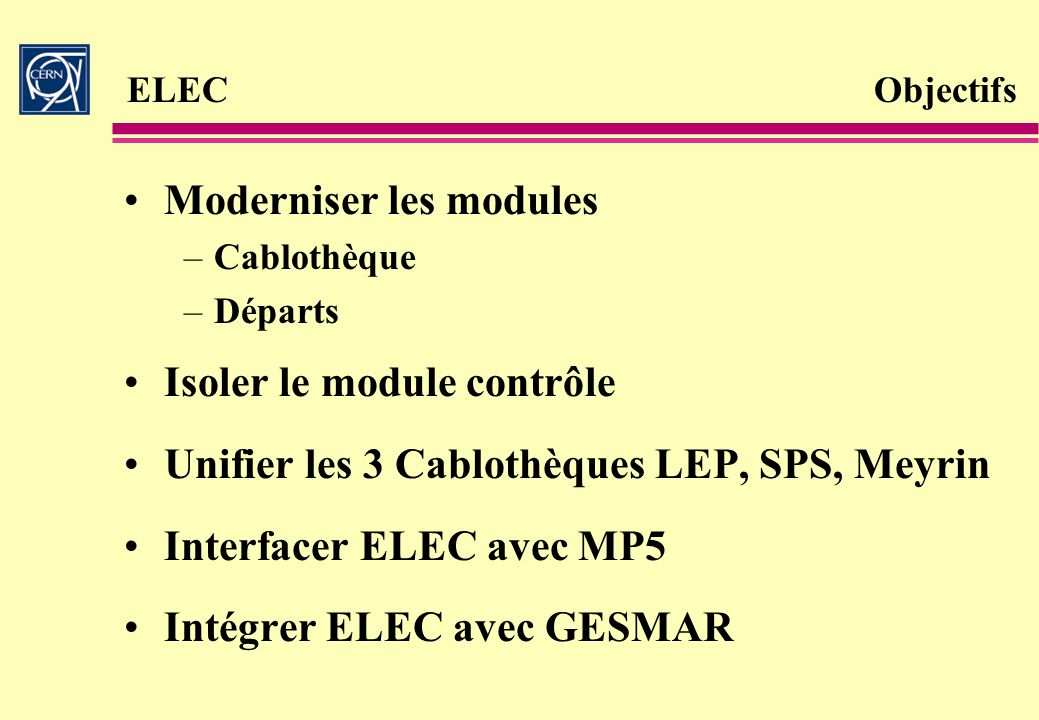 Moderniser les modules