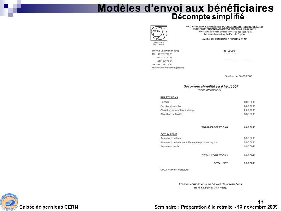 Modèles d'envoi aux bénéficiaires