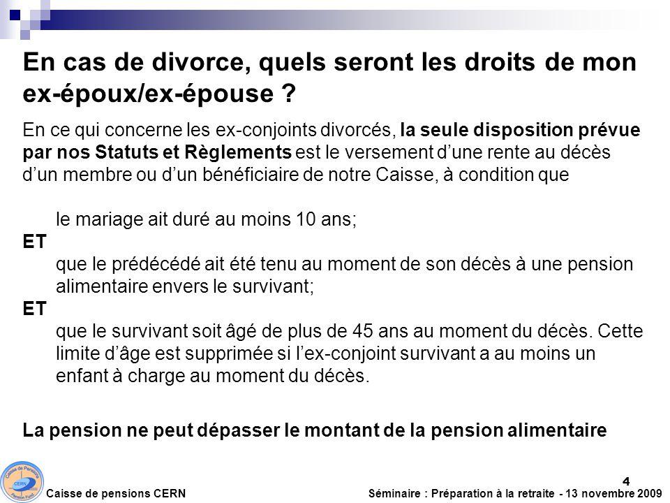 En cas de divorce, quels seront les droits de mon ex-époux/ex-épouse