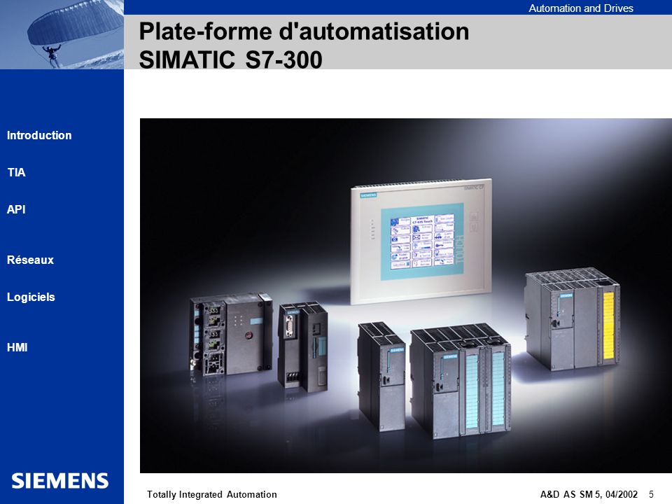 Plate-forme d automatisation SIMATIC S7-300