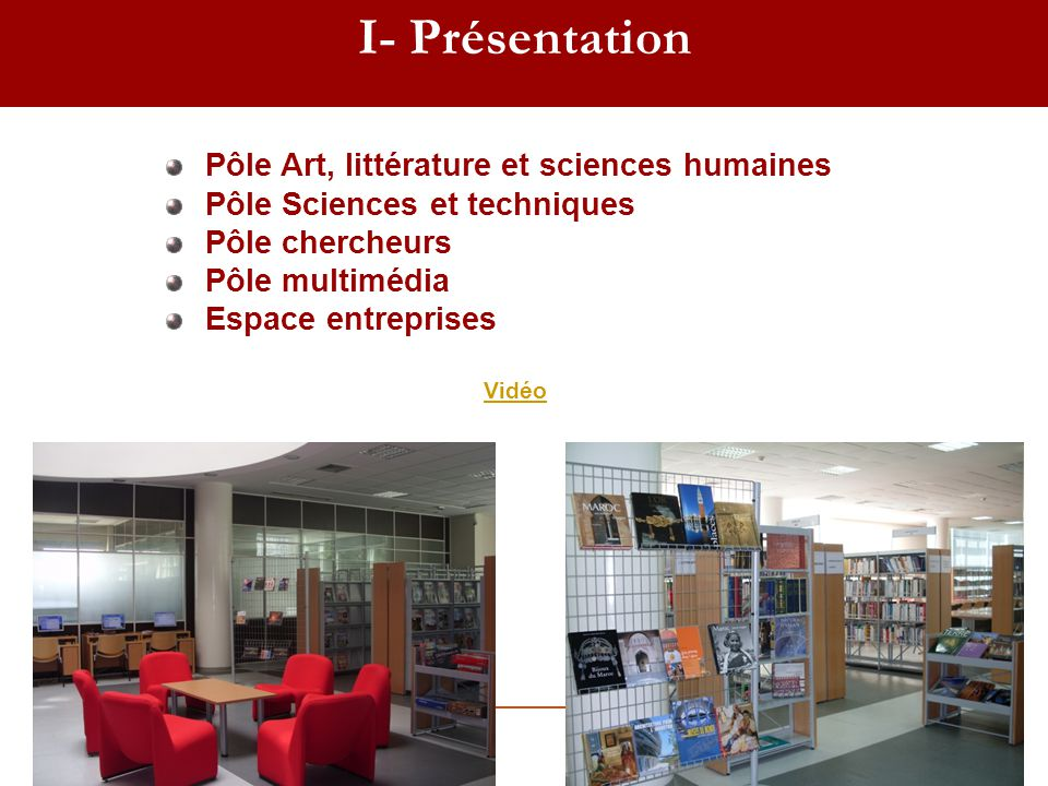 I- Présentation Pôle Art, littérature et sciences humaines