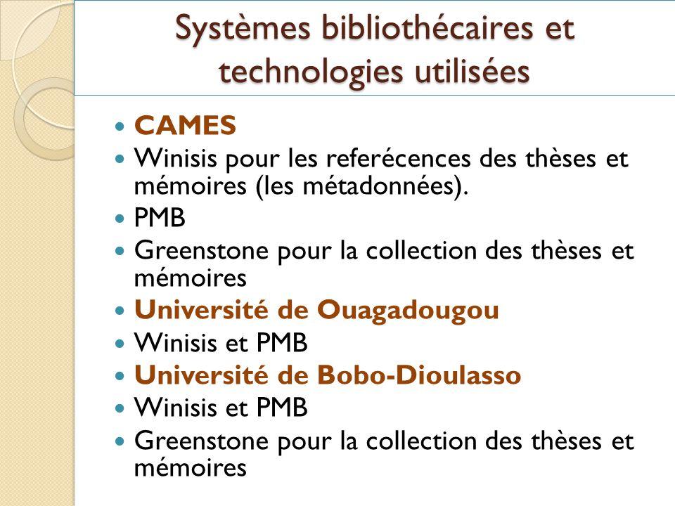 Systèmes bibliothécaires et technologies utilisées