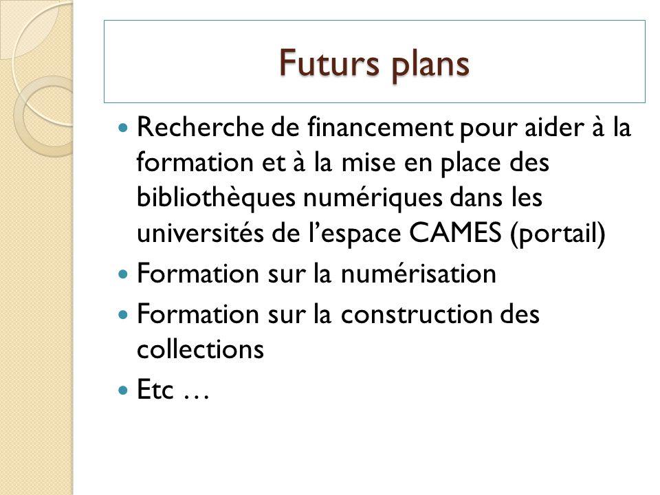 Futurs plans