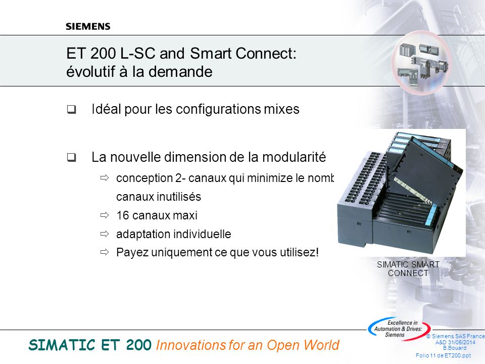 ET 200 L-SC and Smart Connect: évolutif à la demande