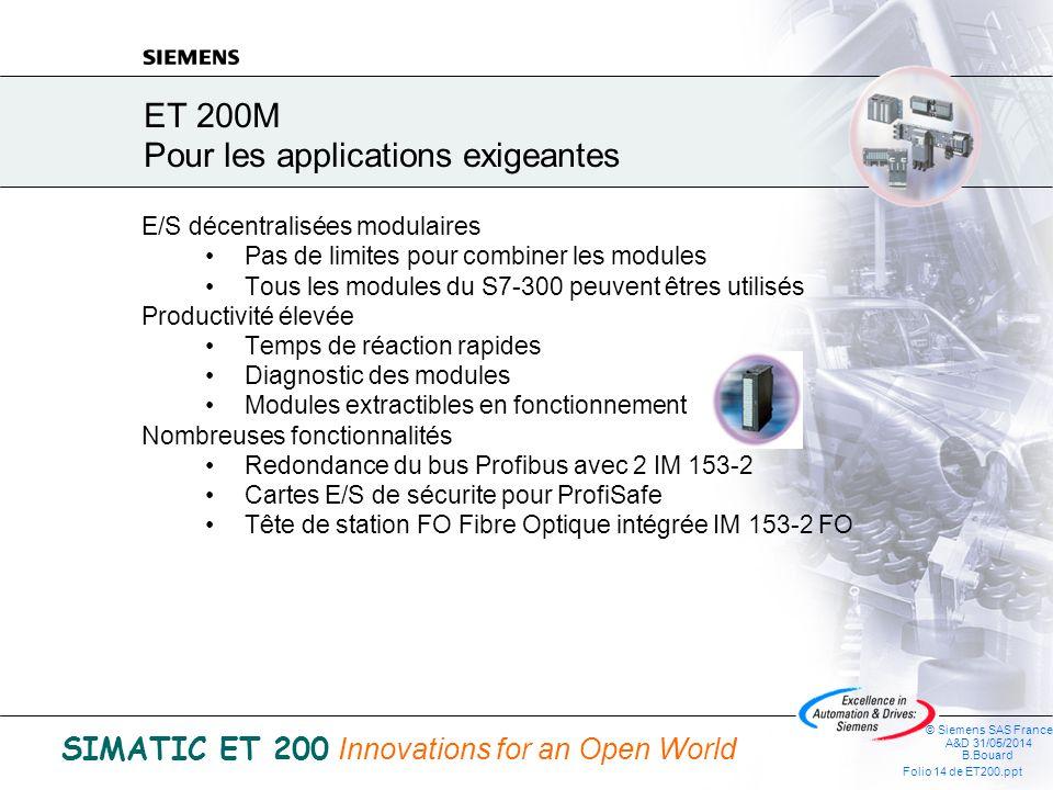 ET 200M Pour les applications exigeantes