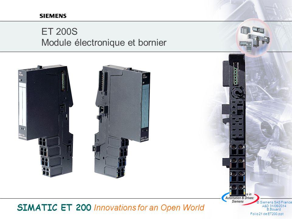 ET 200S Module électronique et bornier