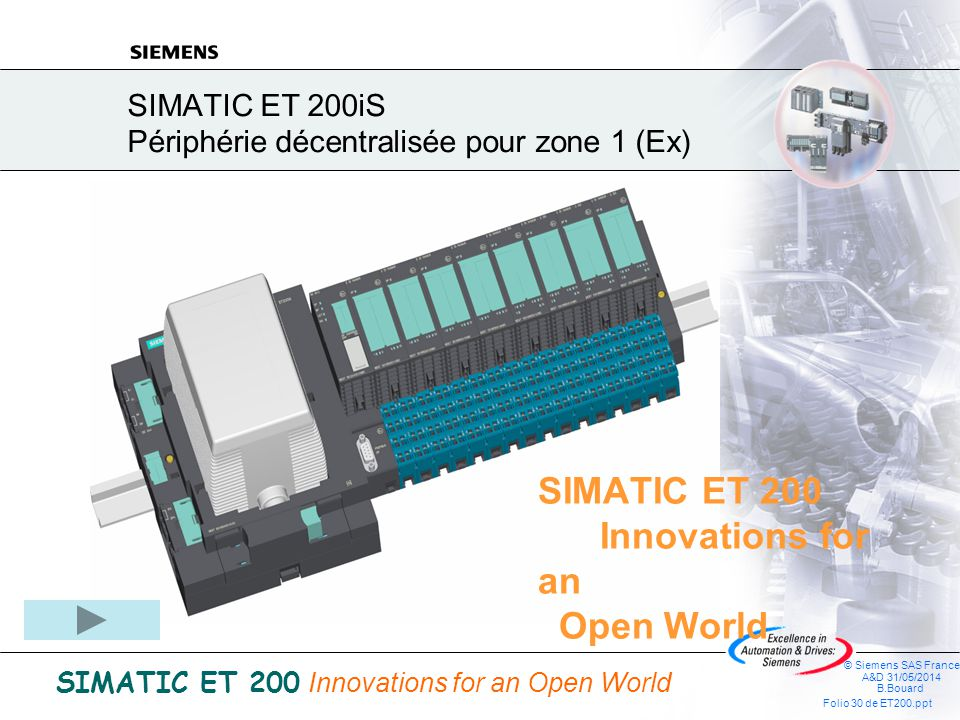 SIMATIC ET 200iS Périphérie décentralisée pour zone 1 (Ex)