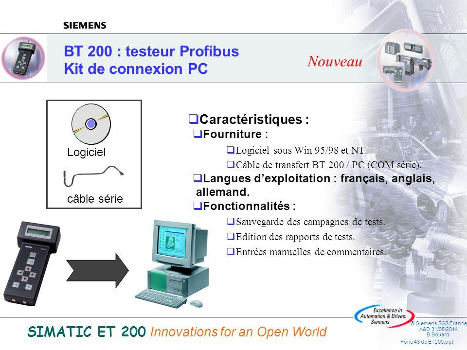 BT 200 : testeur Profibus Kit de connexion PC