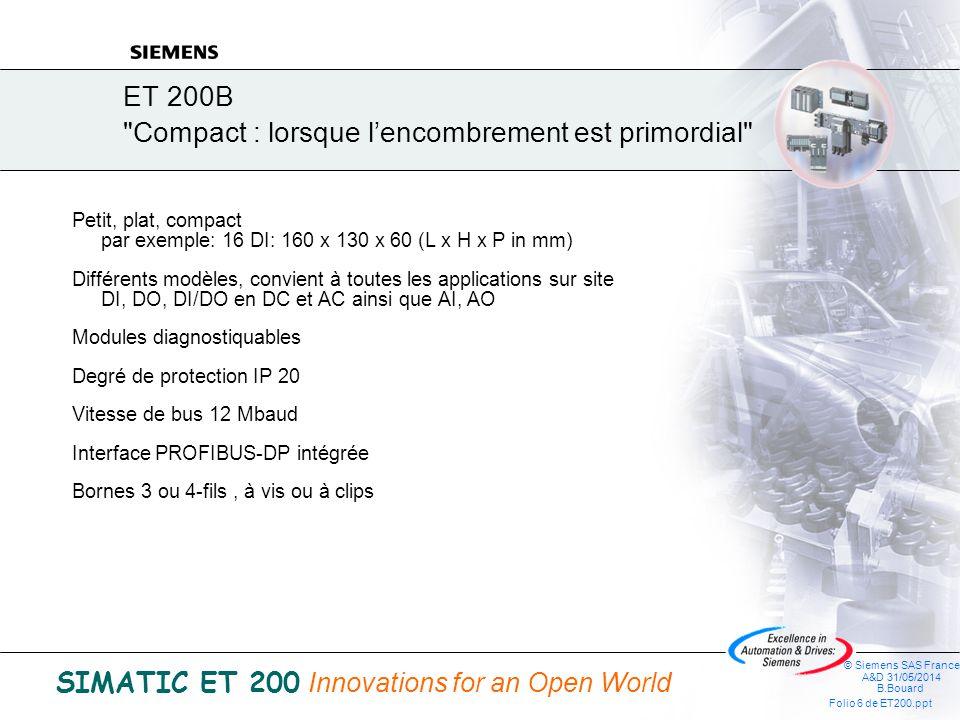 ET 200B Compact : lorsque l'encombrement est primordial
