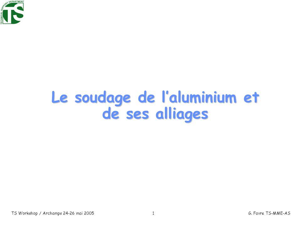 Le soudage de l'aluminium et de ses alliages