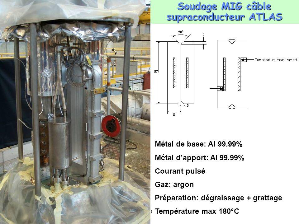 Soudage MIG câble supraconducteur ATLAS