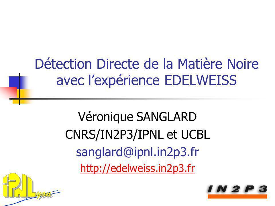 Détection Directe de la Matière Noire avec l'expérience EDELWEISS