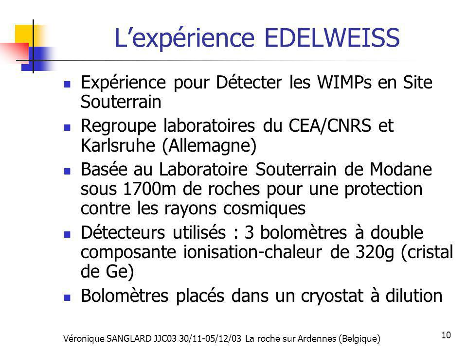 L'expérience EDELWEISS