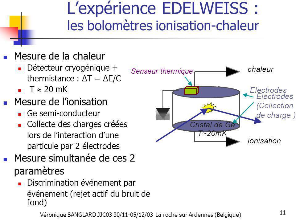 L'expérience EDELWEISS : les bolomètres ionisation-chaleur
