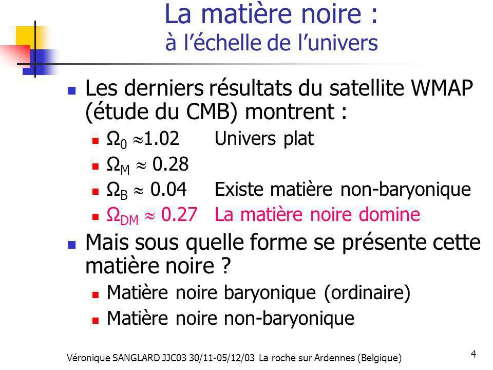 La matière noire : à l'échelle de l'univers