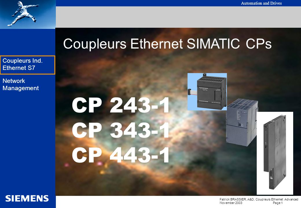 Coupleurs Ethernet SIMATIC CPs