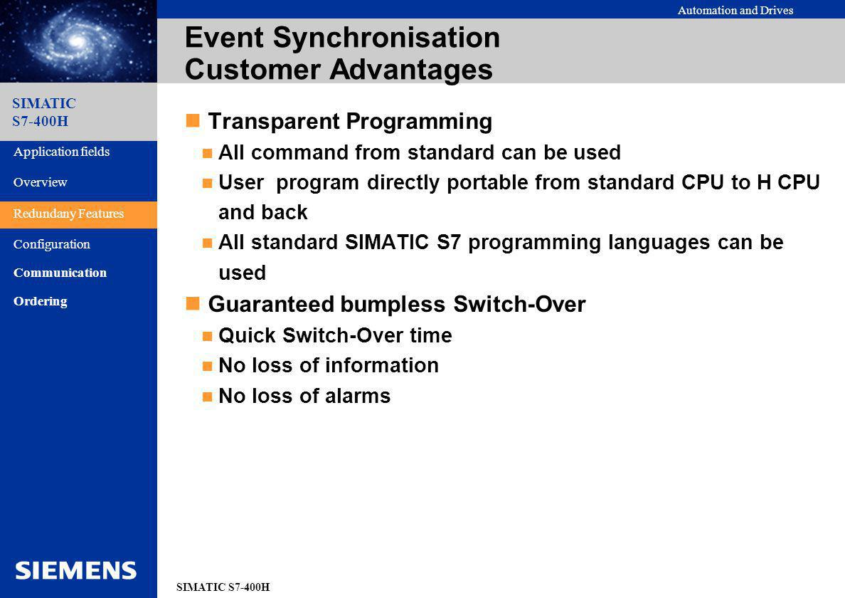 Event Synchronisation Customer Advantages