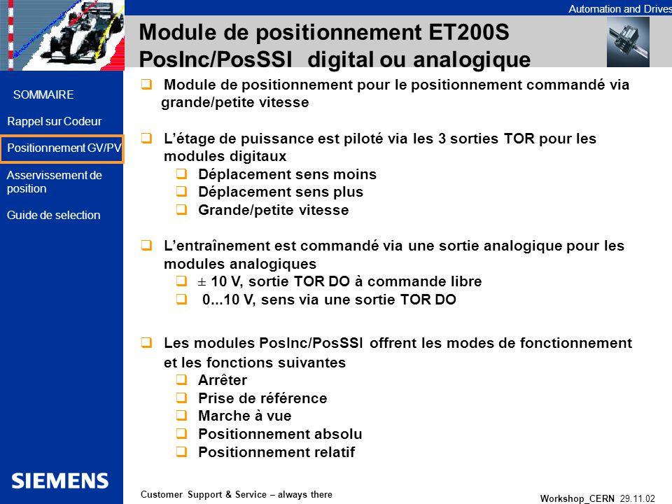 Module de positionnement ET200S PosInc/PosSSI digital ou analogique
