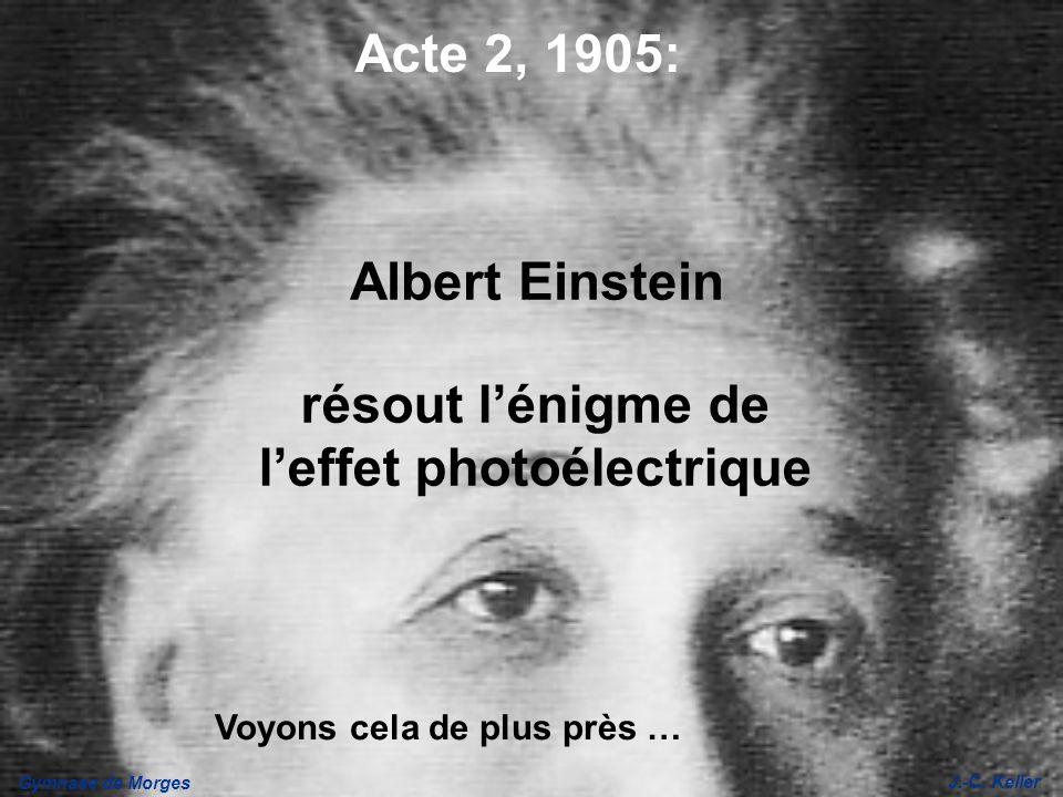 résout l'énigme de l'effet photoélectrique