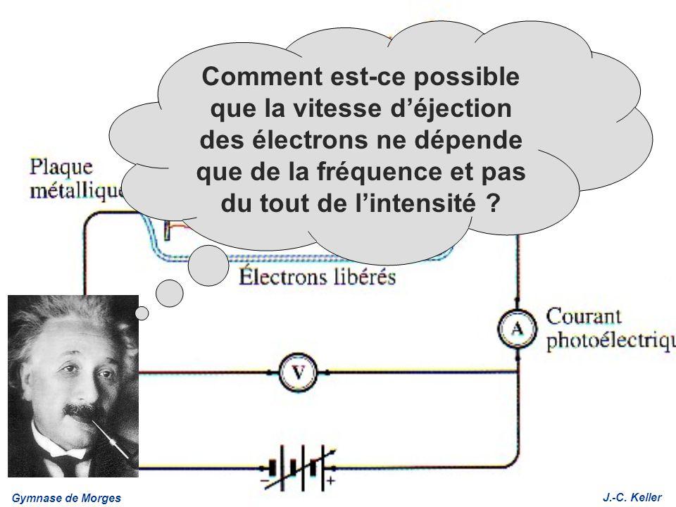Comment est-ce possible que la vitesse d'éjection des électrons ne dépende que de la fréquence et pas du tout de l'intensité