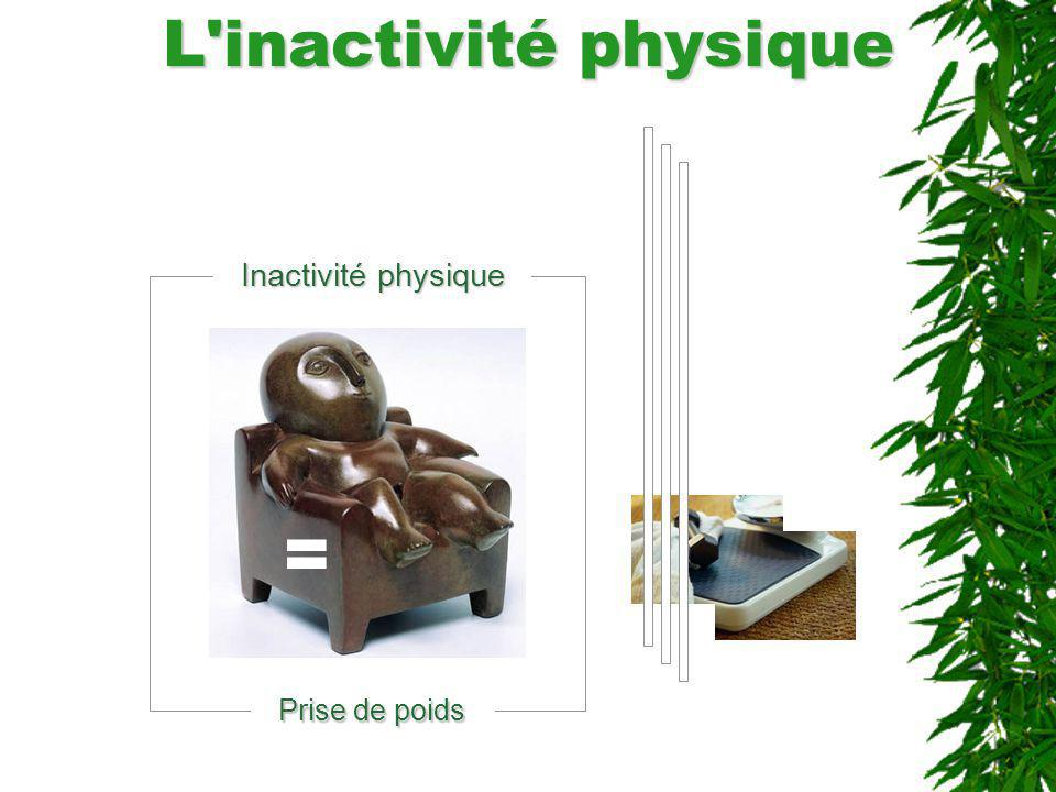 L inactivité physique Inactivité physique = Prise de poids