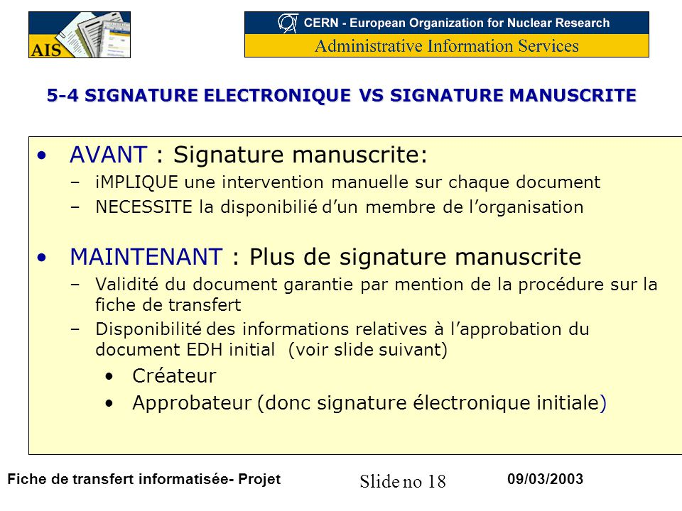 5-4 SIGNATURE ELECTRONIQUE VS SIGNATURE MANUSCRITE