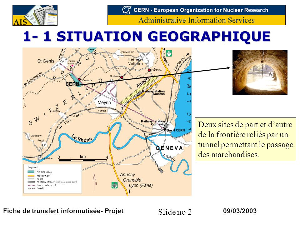 1- 1 SITUATION GEOGRAPHIQUE