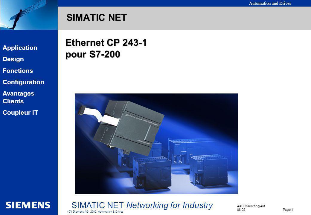 SIMATIC NET Ethernet CP 243-1 pour S7-200