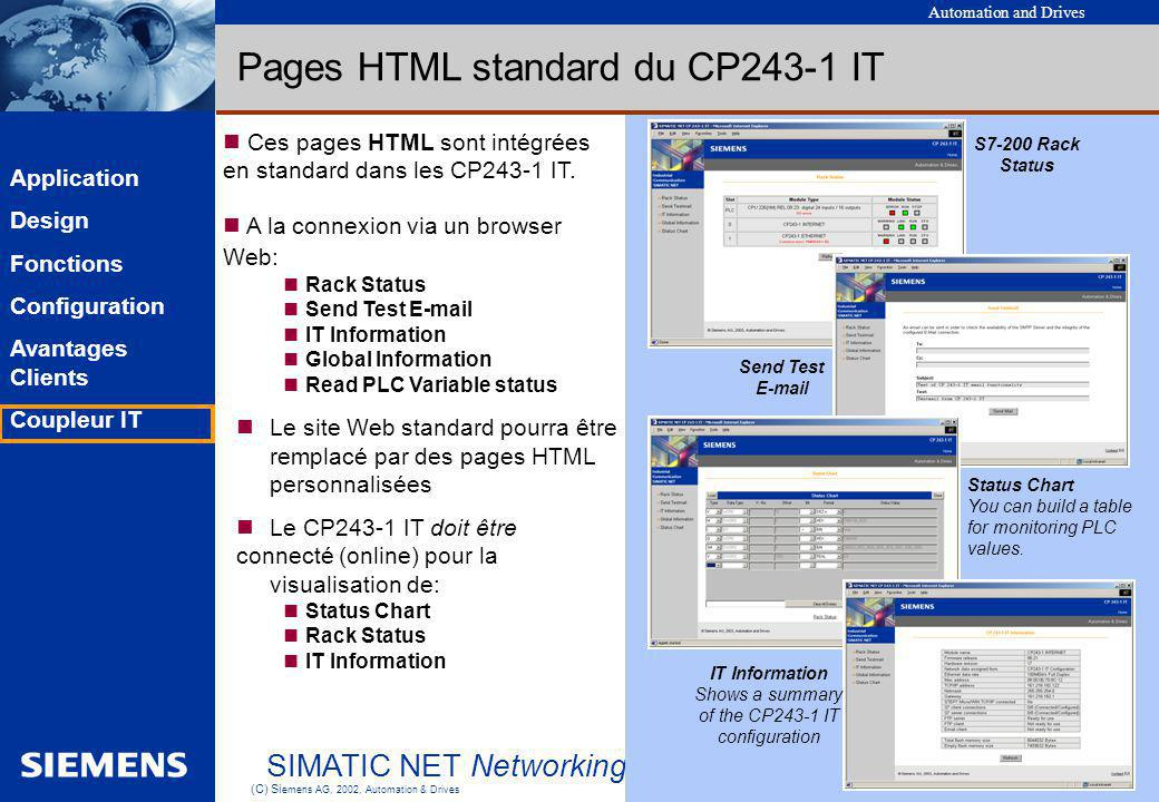 Shows a summary of the CP243-1 IT configuration