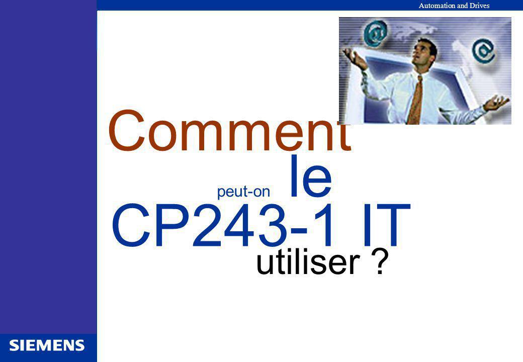 utiliser Comment peut-on le CP243-1 IT