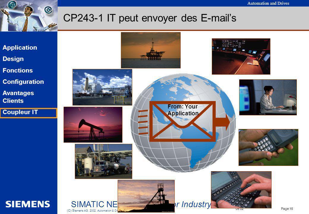 CP243-1 IT peut envoyer des E-mail's