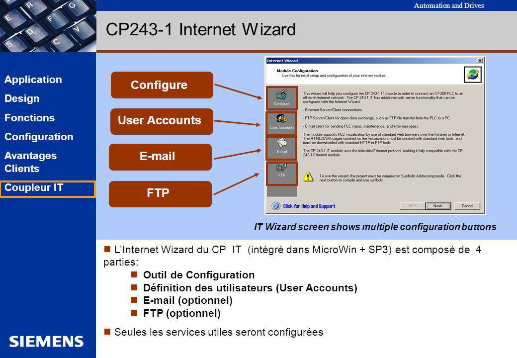 CP243-1 Internet Wizard Configure User Accounts E-mail FTP