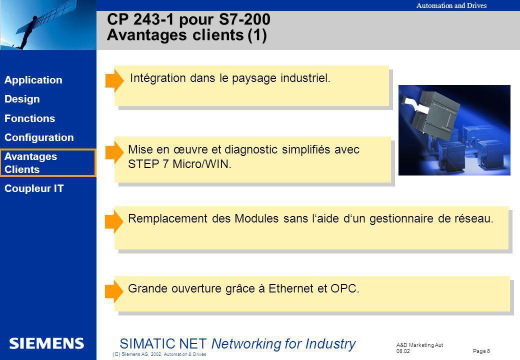 CP 243-1 pour S7-200 Avantages clients (1)
