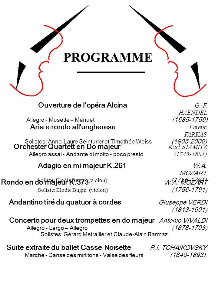 Solistes: Gérard Metrailler et Claude-Alain Barmaz