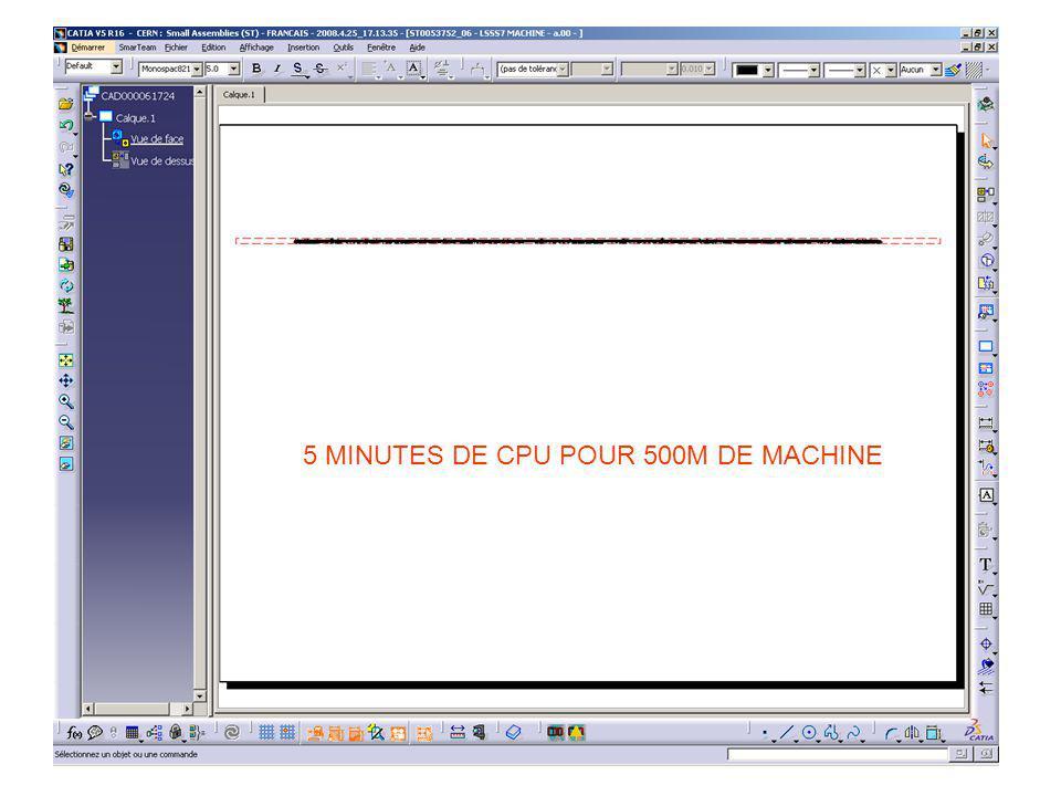 5 MINUTES DE CPU POUR 500M DE MACHINE