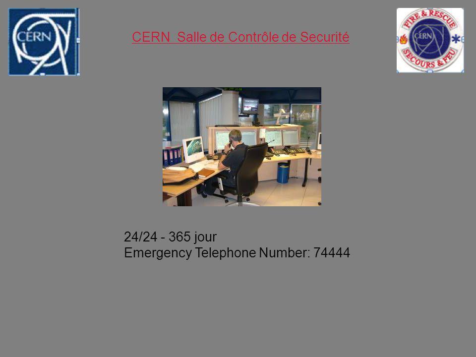 CERN Salle de Contrôle de Securité