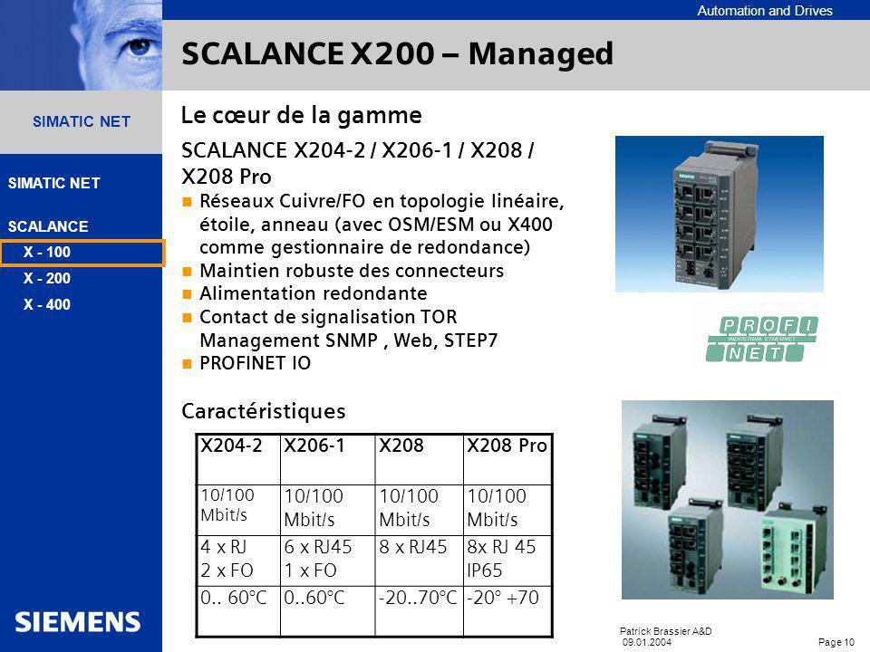 SCALANCE X200 – Managed Le cœur de la gamme